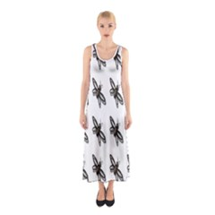 Insect Animals Pattern Sleeveless Maxi Dress
