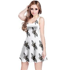 Insect Animals Pattern Reversible Sleeveless Dress