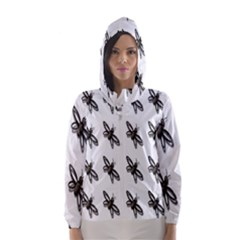 Insect Animals Pattern Hooded Wind Breaker (women)