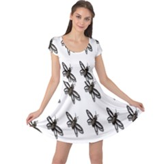Insect Animals Pattern Cap Sleeve Dresses