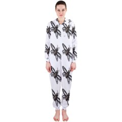 Insect Animals Pattern Hooded Jumpsuit (ladies)