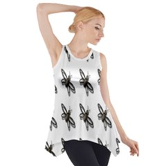 Insect Animals Pattern Side Drop Tank Tunic
