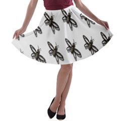 Insect Animals Pattern A-line Skater Skirt