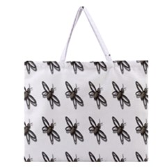 Insect Animals Pattern Zipper Large Tote Bag