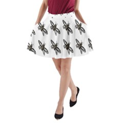 Insect Animals Pattern A Line Pocket Skirt