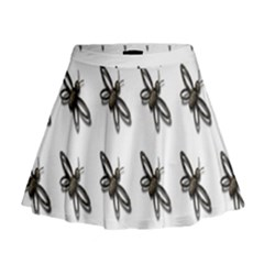Insect Animals Pattern Mini Flare Skirt