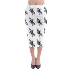 Insect Animals Pattern Midi Pencil Skirt