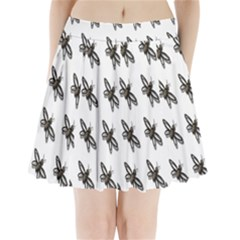Insect Animals Pattern Pleated Mini Skirt