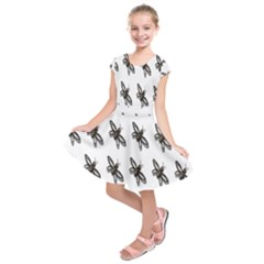 Insect Animals Pattern Kids  Short Sleeve Dress
