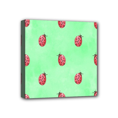 Pretty Background With A Ladybird Image Mini Canvas 4  x 4
