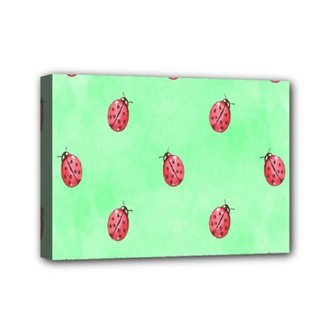 Pretty Background With A Ladybird Image Mini Canvas 7  x 5