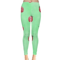 Pretty Background With A Ladybird Image Leggings