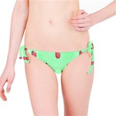 Pretty Background With A Ladybird Image Bikini Bottom