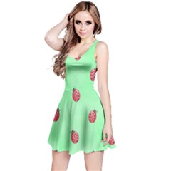 Pretty Background With A Ladybird Image Reversible Sleeveless Dress