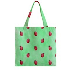Pretty Background With A Ladybird Image Grocery Tote Bag