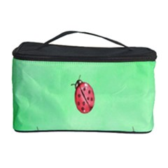Pretty Background With A Ladybird Image Cosmetic Storage Case