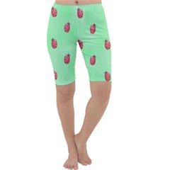 Pretty Background With A Ladybird Image Cropped Leggings