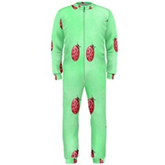 Pretty Background With A Ladybird Image OnePiece Jumpsuit (Men)