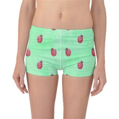 Pretty Background With A Ladybird Image Boyleg Bikini Bottoms