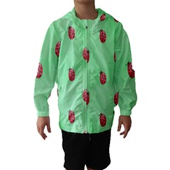 Pretty Background With A Ladybird Image Hooded Wind Breaker (kids)