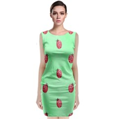 Pretty Background With A Ladybird Image Classic Sleeveless Midi Dress