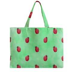 Pretty Background With A Ladybird Image Medium Tote Bag