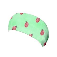 Pretty Background With A Ladybird Image Yoga Headband