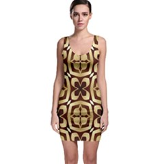 Abstract Seamless Background Pattern Sleeveless Bodycon Dress