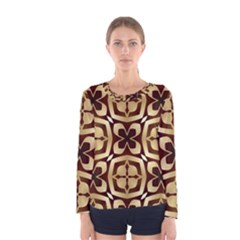 Abstract Seamless Background Pattern Women s Long Sleeve Tee