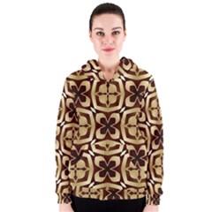 Abstract Seamless Background Pattern Women s Zipper Hoodie