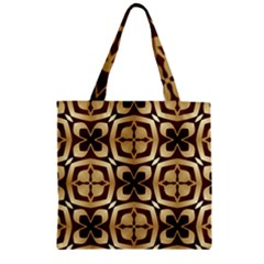 Abstract Seamless Background Pattern Zipper Grocery Tote Bag