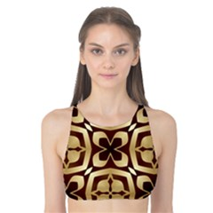 Abstract Seamless Background Pattern Tank Bikini Top