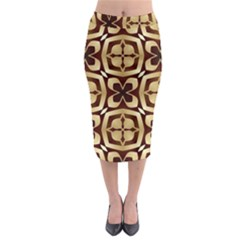 Abstract Seamless Background Pattern Midi Pencil Skirt