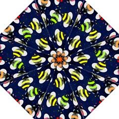 Bees Cartoon Bee Pattern Golf Umbrellas
