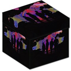 Abstract Surreal Sunset Storage Stool 12