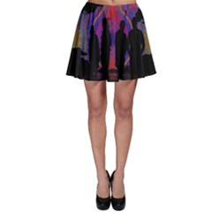 Abstract Surreal Sunset Skater Skirt