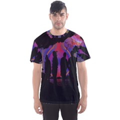 Abstract Surreal Sunset Men s Sport Mesh Tee