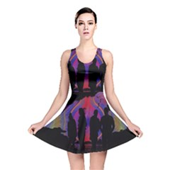 Abstract Surreal Sunset Reversible Skater Dress