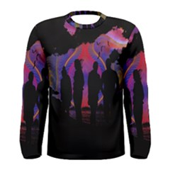 Abstract Surreal Sunset Men s Long Sleeve Tee