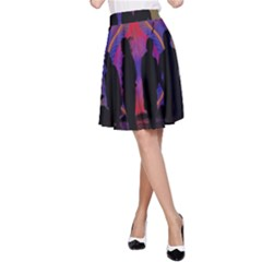 Abstract Surreal Sunset A Line Skirt