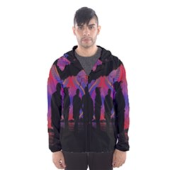 Abstract Surreal Sunset Hooded Wind Breaker (Men)