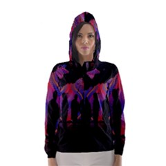 Abstract Surreal Sunset Hooded Wind Breaker (Women)