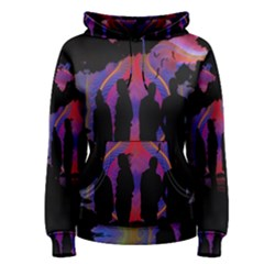 Abstract Surreal Sunset Women s Pullover Hoodie