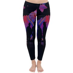 Abstract Surreal Sunset Classic Winter Leggings