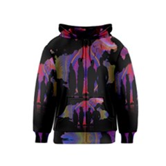 Abstract Surreal Sunset Kids  Zipper Hoodie