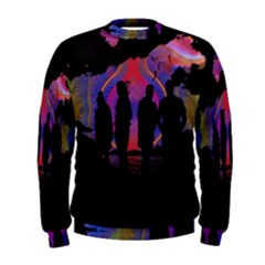 Abstract Surreal Sunset Men s Sweatshirt