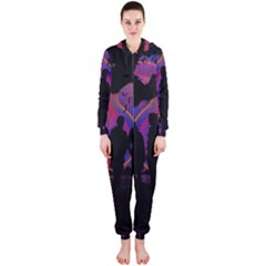 Abstract Surreal Sunset Hooded Jumpsuit (ladies)