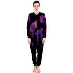 Abstract Surreal Sunset Onepiece Jumpsuit (ladies)