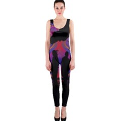 Abstract Surreal Sunset OnePiece Catsuit