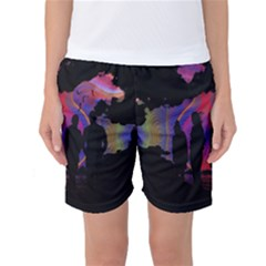 Abstract Surreal Sunset Women s Basketball Shorts